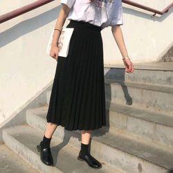 Chân váy xếp ly dáng dài giá sỉ