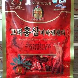 Kẹo hồng sâm vitamin Hàn Quốc 200g giá sỉ