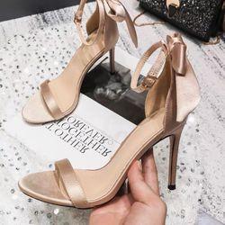 Giày sandal cao gót nơ lụa giá sỉ