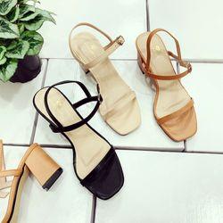 Giày sandal đế vuông 2 quai cao cấp giá sỉ