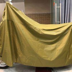 Tấm bạt dù phủ xe máy màu xanh lá mạ loại dày bền tốt GD0040