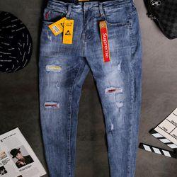 Quần Jeans Nam Teen Rách Phong Cách giá sỉ