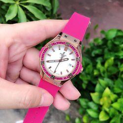 đồng hồ hblot nữ hồng vh