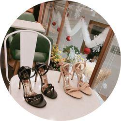 Giày sandal cao gót 2 dây giá sỉ