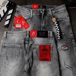 Quần Jeans Nam Teen Rách Màu Xám giá sỉ