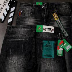 Quần Jeans Nam Teen Màu Đen Phong Cách giá sỉ
