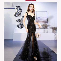 Đầm dạ hội xẻ cao cấp pi giá sỉ