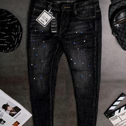 Quần Jeans Nam Teen Màu Đen giá sỉ