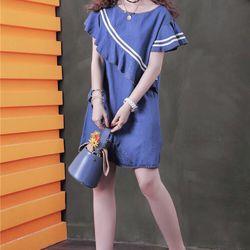 Đầm jean phối bèo pi giá sỉ