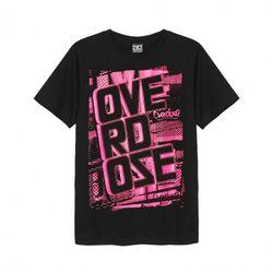 Áo thun Thái Lan in 3D OverDose nền hồng in chữ OverDose T0044