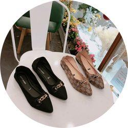 Giày búp bê hoạ tiết xinh giá sỉ