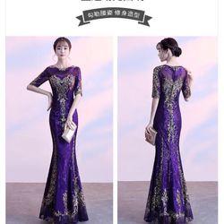 Đầm dạ hội dự tiệc cao cấp pu giá sỉ