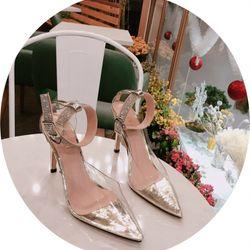Giày cao gót mica đá cổ chân sang chảnh giá sỉ