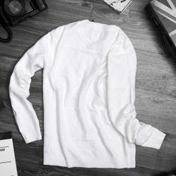 áo thun dài tay nam 2 màu xanh ngọc và trắng cực đẹp giá sỉ