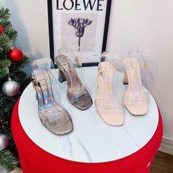 Giày sandal cao gót quai trong giá sỉ