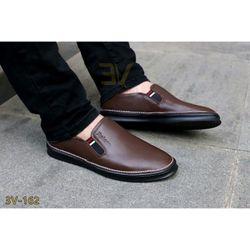 Giày lười nam chất da bò mềm giày đóng tại sưởng giá sỉ