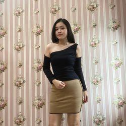 BGS8001 - Sét Váy Áo - Vải Bo Gân Cotton 100 Cao Cấp giá sỉ