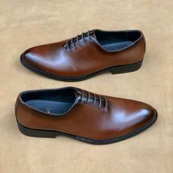 Giày nam - giày tây nam chất da bò trơn buộc dây giá sỉ