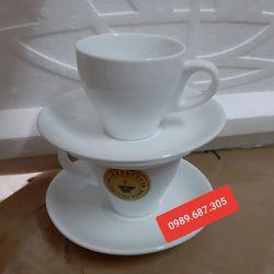 Bộ cốc đĩa cafe espresso giá sỉ