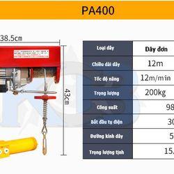 Tời điện Kio Pa 200kg - 400kg dây 30m giá sỉ