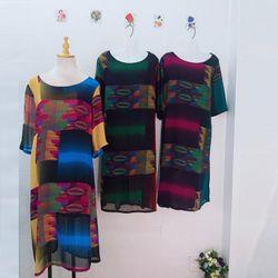 Đầm Oversize In Hình 3D Ngũ SắcVàng Silk Lụa giá sỉ