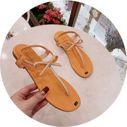 Giày sandal kẹp nơ siêu xinh