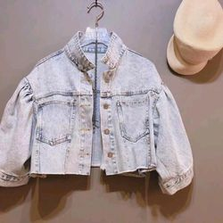 Áo khoác jean nữ form lửng thời trang chuyên sỉ jean 2KJean giá sỉ