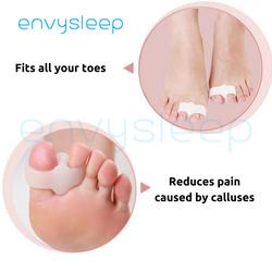 Silicon ENVYSLEEP giảm đau 2 ngón chân với giày búp bê giày bít1 bộ 2 cái free size nam và nữ giá sỉ