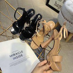 Giày sandal cao gót đúp bản