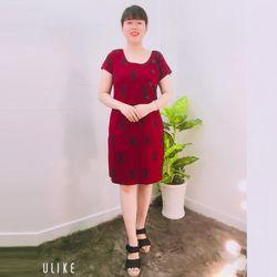 Đầm Suông Nút Kiểu Họa TiếtChữ giá sỉ