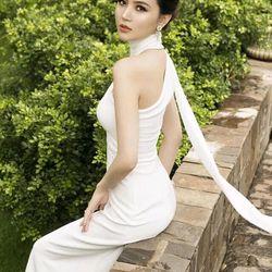 Đầm dạ hội lệch vai D414-290 giá sỉ