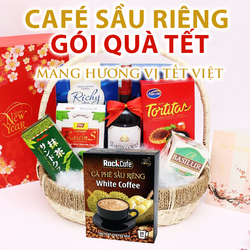 Cà phê sầu riêng - Rockcafe Durian White coffee - Hộp 20 gói x 20g giá sỉ, giá bán buôn