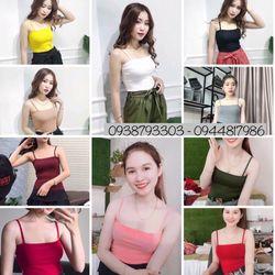 A2501 - ÁO DÂY VUÔNG - Bo gân cotton 100 giá sỉ