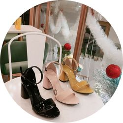 Giày sandal cao bản trơn đơn giản