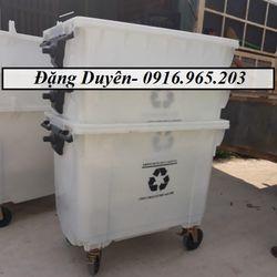 Xe rác công cộng 660l nhựa HPDE giá sỉ