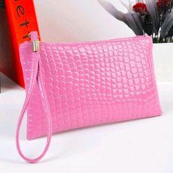ví da nữ cầm tay màu hồng giá sỉ