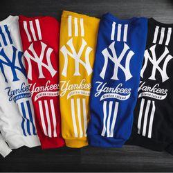 Áo nỉ nam sweater NY MLB chất nỉ bông mịn