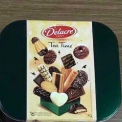 Bánh Bỉ Delacre Tea Time 1000g hộp sắt giá sỉ