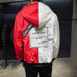 Áo khoác dù nam phối 2 màu giá sỉ