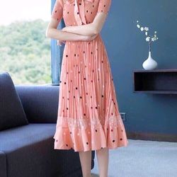 Đầm dập ly ren cao cấp 2 màu