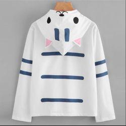 Áo hoodie nữ mỏng hình con mèo giá sỉ