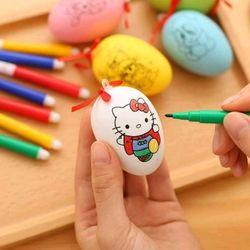 bộ trứng tô màu gồm 1 trứng và 4 bút 4 màu Giá sỉ 5800đ rẻ