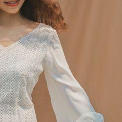 Đầm ren phối tay voan giá sỉ