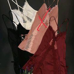 Váy ngủ sexy dây chéo lưng viền ren hoa chất lụa quảng châu giá sỉ