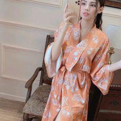 Áo choàng Hoa nhí nữ chất lụa quảng châu siêu mịn