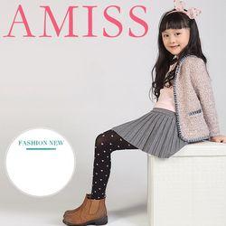 Quần tất trẻ em chấm bi Amiss 1409 Đài Loan từ 6-11 tuổi giá sỉ