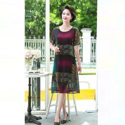Đầm Oversize In Hình 3D Silk Lụa giá sỉ