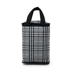 Túi giữ nhiệt kiểu đứng caro thổ cẩm xám giá sỉ