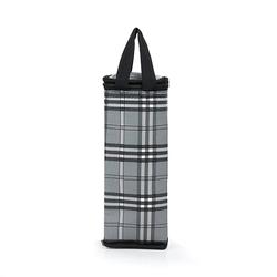 Túi giữ nhiệt bình nước caro thổ cẩm xám giá sỉ