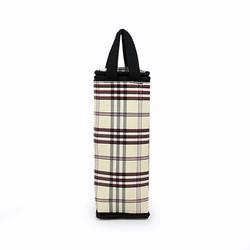 Túi giữ nhiệt bình nước caro thổ cẩm sang trọng giá sỉ